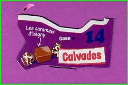 """Magnet LE GAULOIS Département Français Nouvelle Région """" 14 Calvados """" Caen Les Caramels D'Isigny - Magnets"""