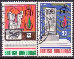 British Honduras 1968 SG #254-55 Compl.set Used Human Rights Year - British Honduras (...-1970)