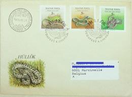 FDC 1986 Budapest Reptiles Serpents (Philatelia Hungarica – Imprimé) - Serpents