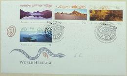 FDC Australia 1996 Reptiles Serpents (Tasmanian, Willandra, Naracoorte Caves, Lord Howe) - Serpents