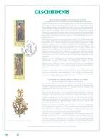 BELGIUM - 31.8.1996 - FEUILLET ART OR 23 CARATS - HISTORY - COB 2658-2659 - Lot 20048 - RARE ONLY 500 Ex.! - Feuillets