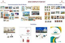 TURKEY - 2018 COMPLETE YEAR SET (COMM. & OFFIC. & DEFINIT. & PORTFOLIO) + GIFTS - Nuevos