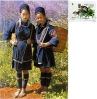 VIETNAM  SAPA  LAO CAI  Blak H'mong Girls  Nice Stamp - Vietnam