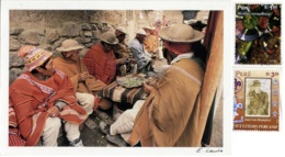 PERÙ  APOLOBAMBA  Men Chewing Coca  Nice Stamps  Scauting Theme - Perù