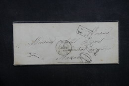 FRANCE / ALGÉRIE - Enveloppe De Oran Pour Mascara En 1857 - à Voir - L 37126 - Marcofilia (sobres)