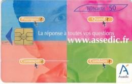 Télécarte - B3673- 50U-Assédic   ( Catégorie,  Nature état ... Se Référer Au Double Scan) - Frankrijk