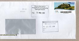 BRD - Privatpost - Arriva  - Umschlag - Wert: M 65 / Marke: Burgruine Hohentwiel - [7] West-Duitsland