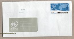 BRD - Privatpost - Arriva  - Umschlag - Wert: M International / Marke: Weltkarte - [7] Federal Republic