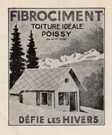 1930 / Facture KOELLIKER / 73 Annecy / Fibrociment ( Amiante ?) De Poissy 78 / Tuiles Pour Bonne 73 - France