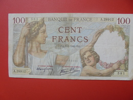 FRANCE 100 FRANCS 5-3-42 CIRCULER (B.5) - 100 F 1939-1942 ''Sully''