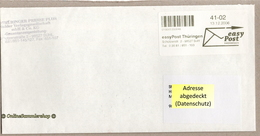 BRD - Privatpost - Easy Post Thüringen  - Umschlag - Label Von 13.12.2006 - [7] Federal Republic