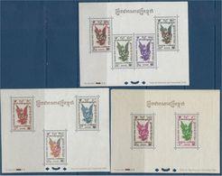 "Cambodge Bloc YT 4 à 6 "" Timbres Aerien "" 1953 Neuf**/* - Cambodge"