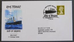 GRANDE-BRETAGNE - ENVELOPPE RMS TITANIC - FDC