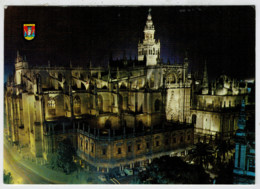 SEVILLA    LA  CATEDRAL  ILUMINADA           (VIAGGIATA) - Sevilla (Siviglia)