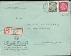 10946 DR R - Brief  Langenbieber Fulda - Frankfurt 1937 - Briefe U. Dokumente