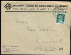 11286 DR Brief Osnabrück EV Verein Junger Männer 1928 - Covers & Documents