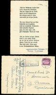 14697 DR Karte PLZ Landpost Stp. 16 Waldhof Egershausen über Wetzlar - Bremen 18.12. 1944, Bedarfserhaltung. - Briefe U. Dokumente