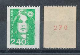 2823a Marianne 2,40f Vert** Avec N° Rouge - Ungebraucht