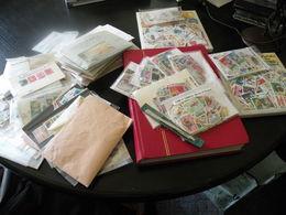 Carton De 2,5 Kg De Timbres En Pochettes Triés Par Pays Et Thèmes Soit Des Milliers De Timbres Avec Classeur - Briefmarken