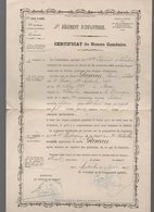(militaria) Montauban : Certificat De Bonne Conduite 1887 (PPP19472) - Documenti
