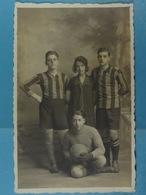 Carte Photo Joueurs De Football ( Photo Bilande, Florennes) - Cartes Postales