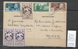 AEF - Carte Interzone - Brazzaville Pour La Belgique - A.E.F. (1936-1958)