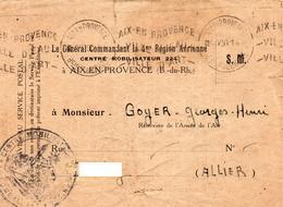 L-  4ème Région Aérienne- Aix En Provence- - Cartes De Franchise Militaire
