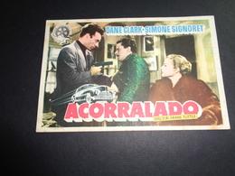 Artiste ( 245 )  Acteur - Affichette Espagnol Cinéma  Ciné Espagne  Espana : Simone Signoret - Publicidad