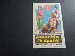 Artiste ( 247 )  Acteur - Affichette Espagnol Cinéma  Ciné Espagne  Espana  : Paul Newman  Joan Collins - Publicidad