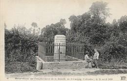CARTE POSTALE ORIGINALE ANCIENNE : FORMIGNY BORNE DE LA BATAILLE DE FORMIGNY LE 15 AVRIL 1450  ANIMEE  CALVADOS (14) - France