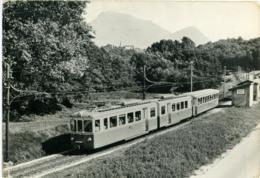 FERROVIA LUGANO-PONTE TRESA A CAPPELLA DI VIGLIO  Nuovo Elettro-treno Inviata Al Direttore Della Circumvesuviana - Treni