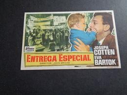 Artiste ( 250 )  Acteur - Affichette Espagnol Cinéma  Ciné Espagne  Espana  :  Joseph Cotten - Publicidad