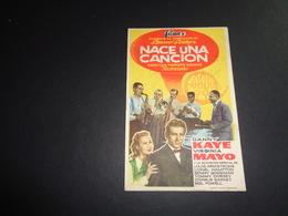 Artiste ( 251 )  Acteur - Affichette Espagnol Cinéma  Ciné Espagne  Espana  :  Danny Kaye - Publicidad