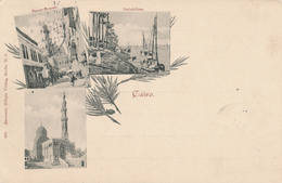697/29 - EGYPT Forerunners - 1898 Multiple Views Card , Editor Hermann Hillger à Berlin - Used CAIRE To BERLIN - Autres