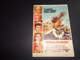 Artiste ( 254 )  Acteur - Affichette Espagnol Cinéma  Ciné Espagne  Espana  :  Yul Brynner  Richard Wildmark - Publicidad
