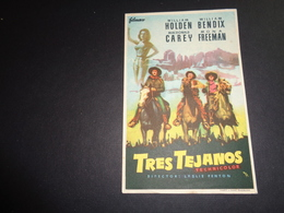 Artiste ( 258 )  Acteur - Affichette Espagnol Cinéma  Ciné Espagne  Espana  :  Cowboy   William Holden - Werbetrailer