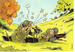 Cpsm Soldats à L'exercice Par Mazel , Vierge - Humoristiques