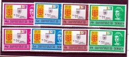 1969 Jersey  NUOVI SERVIZI POSTALI 2 Serie Di 4v. (1/14) MNH** - Jersey