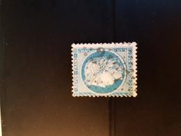 N°60 A,  25 Cts Bleu , GC 2437, Montbozon, Haute Saône. - Marcophilie (Timbres Détachés)