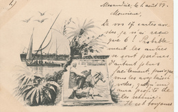 698/29 - EGYPT Forerunners - 1899 Multiple Views Card , Editor Not Mentioned - Used ALEXANDRIE To MOUTIERS France - Autres