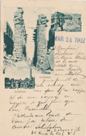 700/29 - EGYPT Ancient Multiple Views Card KARNAK , Editor Not Mentioned - Used In France 1902 - Autres