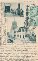 702/29 - EGYPT Ancient Multiple Views Card Running Mosque Kait Bey , Editor Not Mentioned - Used CAIRO 1902 To PARIS - Autres