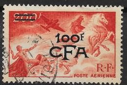 REUNION POSTE AERIENNE MYTHOLOGIE N° 48 AVEC OBLITERATION LEGERE - Réunion (1852-1975)
