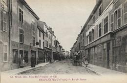 CARTE POSTALE ORIGINALE ANCIENNE : NEUFCHATEAU LA RUE DE FRANCE   ANIMEE VOSGES (88) - Neufchateau