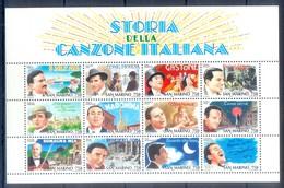 B32- SAN MARINO 1996. HISTORY OF ITALIAN SONG. CULTURE. - San Marino