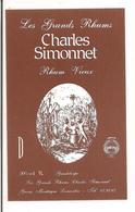 Etiquette   RHUM  Vieux  - Les Grands  Rhums  Charles Simonnet - 50%  1l - Médaille Or 1983 -  GUADELOUPE  - - Rhum