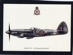 Spitfire F.22  -  602 Squadron RAuxAF   -  CPM - 1939-1945: 2ème Guerre