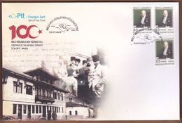 AC - TURKEY FDC - CENTENARY OF THE NATIONAL STRUGGLE AMASYA CONGRESS MUSTAFA KEMAL ATATURK Amasya, 22 JUNE2019 - 1921-... República