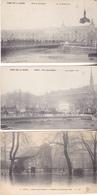 BE17- PARIS INONDATIONS 1910 LOT DE 5 CPA PETIT PRIX  JARDIN DES PLANTES PONT ST MICHEL CARROUSSEL ALMA - Paris Flood, 1910