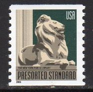 USA 2000 Lion Statue, New York, Definitive Coil Stamp, P.10, MNH (SG 3879a) - United States